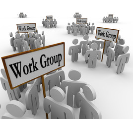 Several Work Groups of Workers Divided Tasks