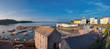 Leinwandbild Motiv Panoramic view of Tenby harbour, South Wales, UK