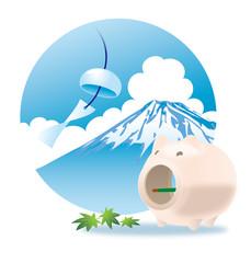 富士山と蚊取り線香