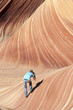 Photographer in Paria canyon