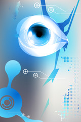 Eye, iris, internet business security background