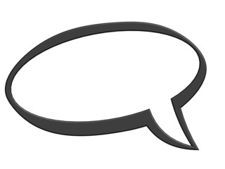 Black speech bubble