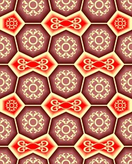 Seamless ornament tile pattern