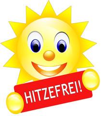 Hitzefrei Schild Sonne