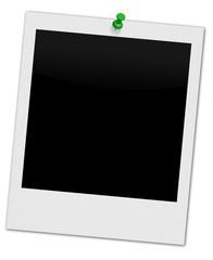 Polaroid mit Pin Grün