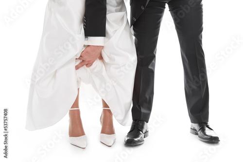 Ehemann und Ehefrau - Hochzeitspaar isoliert
