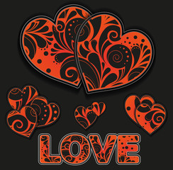 African style hearts