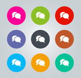 Chat - Metro clear circular Icons
