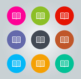 Book - Metro clear circular Icons