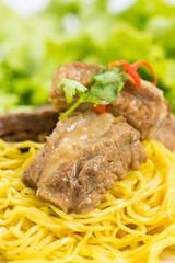 noodles pork