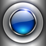 Fototapety Background with 3D shiny button