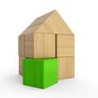 Holzhaus Baustein Konzept - Grün 4