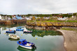 View of boats in Portpatrick harbour