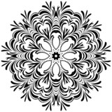 Circle floral ornament, EPS8 - vector graphics