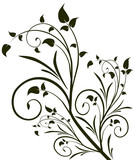 Ornament vintage floral design, EPS8 - vector graphics.