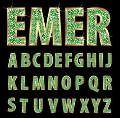 emerald letters