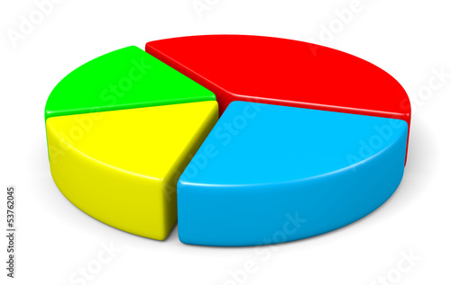 Colorful 3d pie diagram illustration