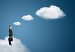 businessman on cloud