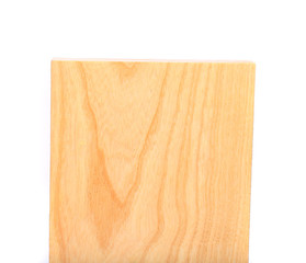 top plank of elm close-up on the white background