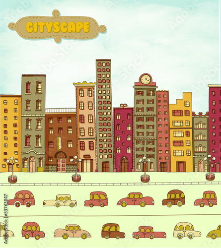 Cityscape Cartoon