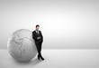 businessman with globe