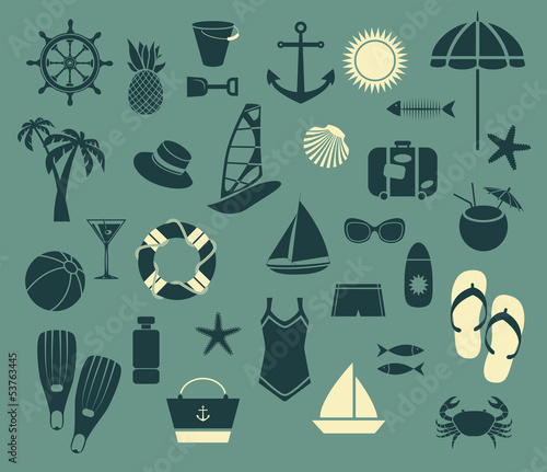 Summer Seaside Icons