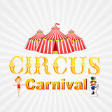 vector illustration of poster design for circus carnival poster