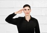 pride saluting poster