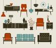 Retro Furniture and Home Accessories - 53764604