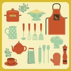 Set of Kitchen Accessories and Utensils