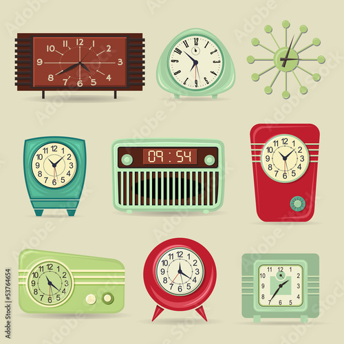 Set of Retro Clocks