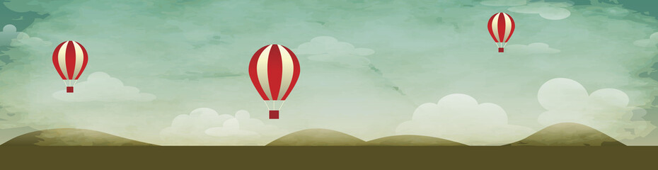 Hot Air Baloons Background Header
