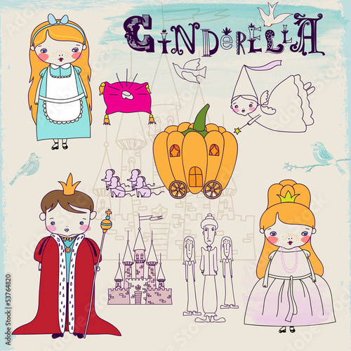 Cinderella Fairytale Characters and Symbols