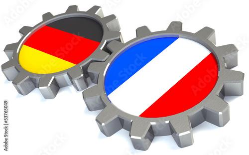 canvas print picture Deutschand Frankreich