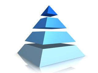 Blue Business Pyramid
