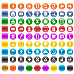 丸ボタン81セット(カラー)