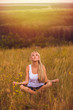 yoga woman girl meditation female body lotus young relaxation he