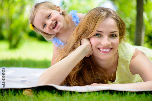 Happy young mother with her daughter