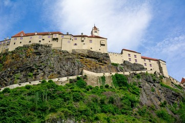 Riegersburg castle in Austria in hot summer weather