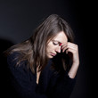 Frau traurig