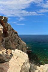 Sardinia - cliff in San Pietro Island