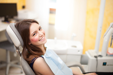 Woman at the dentistry
