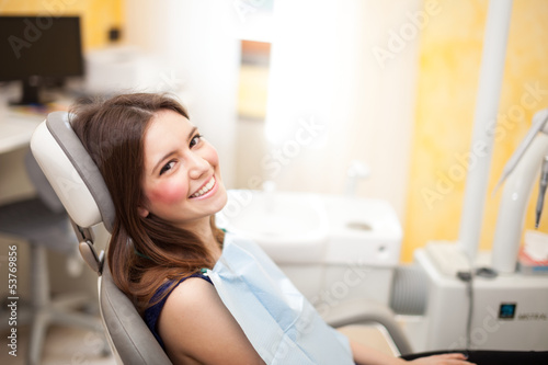 Woman at the dentistry