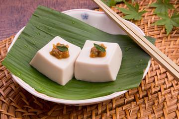 山椒味噌とごま豆腐