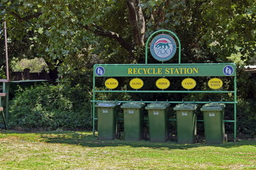 Recycle station in Johannesburg zoo