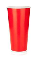 Red disposable cup