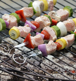Ham Kabobs On The Grill