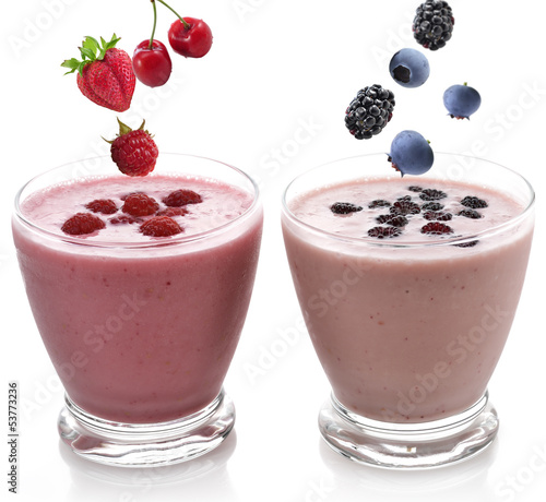 Raspberry And Blackberry Smoothie