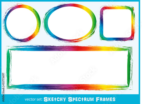 Sketchy Spectrum Frames Backgrounds