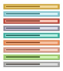 flat loading bar - proggres bar